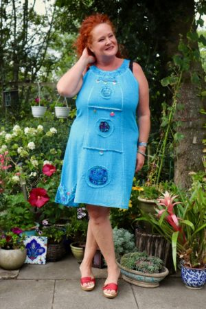 Aelia - Cute blue retro dress. Perfect for a night out.
