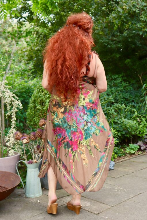 Afrodite - Beautiful brown summer dress. Perfect for a night out.