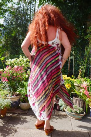 Afrodite - Beautiful striped summer dress. Perfect for a night out.