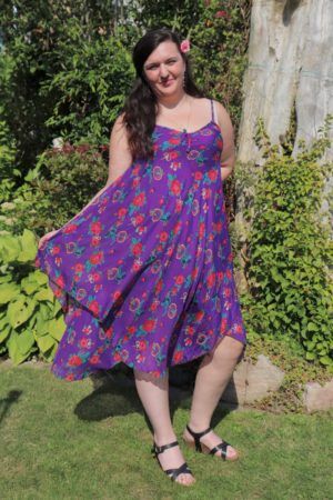 Afrodite - Beautiful purple summer dress. Perfect for a night out.