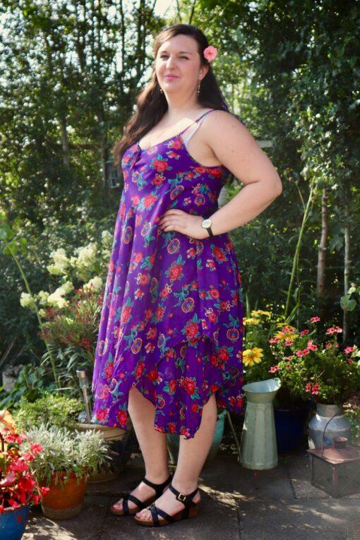 Afrodite - lækker lilla sommerkjole. Perfekt til alt.
