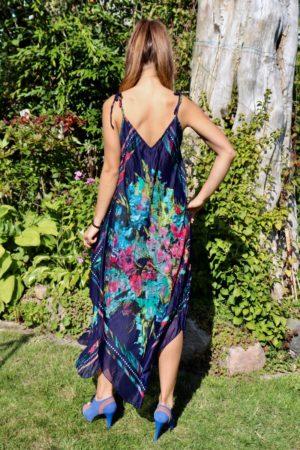 Afrodite - lækker blå sommerkjole. Perfekt til alt.
