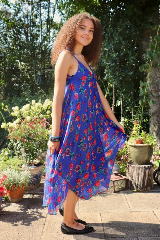 Afrodite - Beautiful blue summer dress. Perfect for a night out.