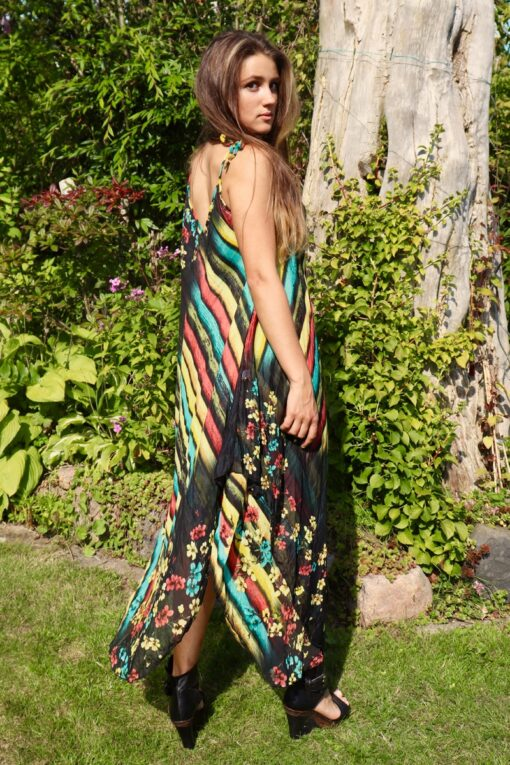 Beautiful black summer dress with gorgeous print. Perfect for a night out.