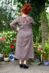 Bellona - Unique brown maxi dress. Perfect for the warm summer nights or the cold fall.