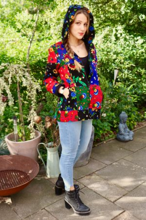 Emine - Colorful short spring jacket. Perfect to lighting up the day.