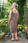 Brun etnisk boho kjole i kaffefarvet