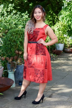 Inara - Beautiful red bohemian dress, perfect for a night out.