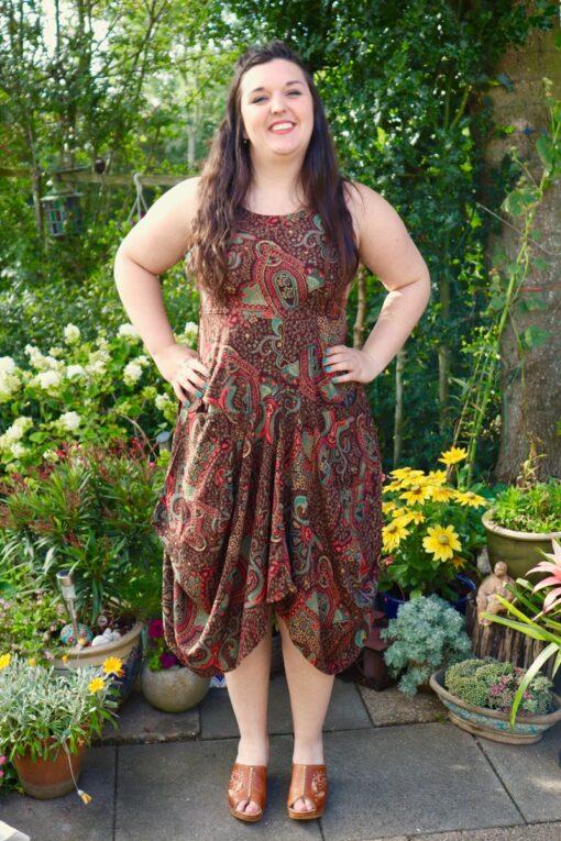 Justina - lækker boho kjole. Perfekt til hverdag og fest.