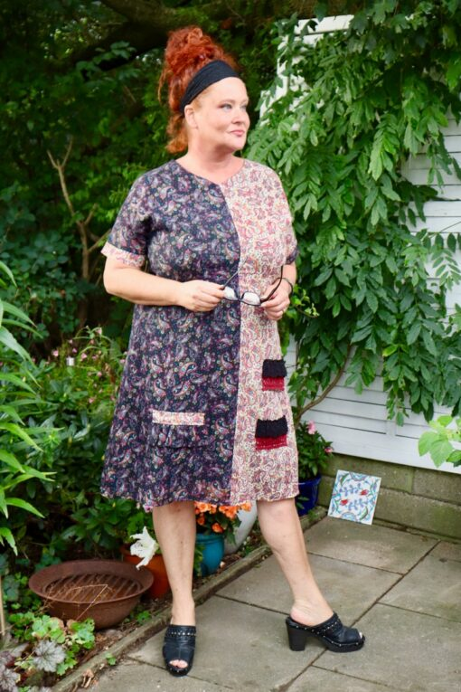 Turrita - Amazing bohemian style dress in the style of patchwork. Can be used as a tunic.