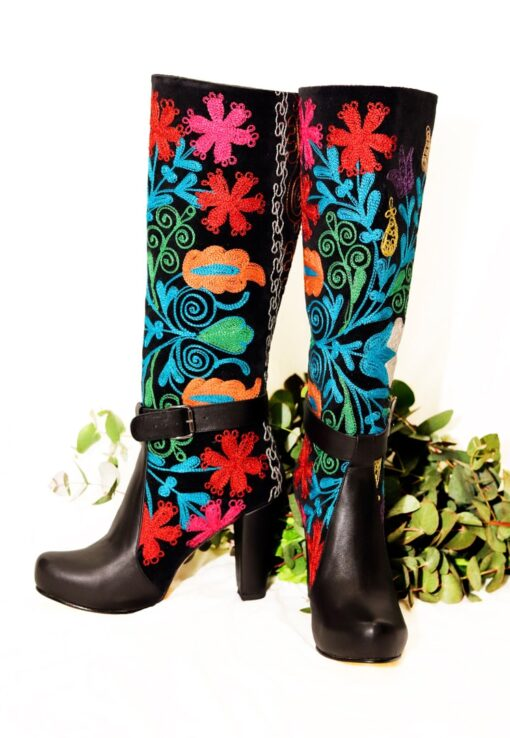 Artemis - Unique riding boot look a like leather boots. Perfect for a night out.