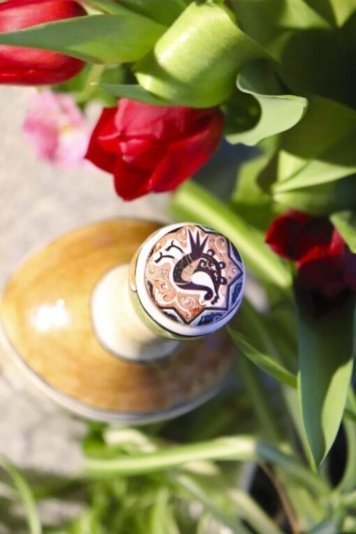 Aegea - Unique hand painted ceramic bottle in beautiful colors. Perfect as applied art and decoration.