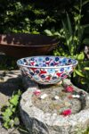 Theodora - Hand painted lead free fruit bowl in beautiful colors. Perfect as decoration or storage.