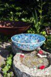 Hecabe - Lækker farverig keramikskål i blå. Perfekt til både opbevaring og pynt.