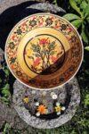 Beautiful yellow & handmade ceramic bowl. Ottoman style, foodsafe and lead free