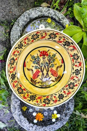 Eudoxia - Beautiful colorful hand painted ceramic bowl. Perfect as storage and decoration.