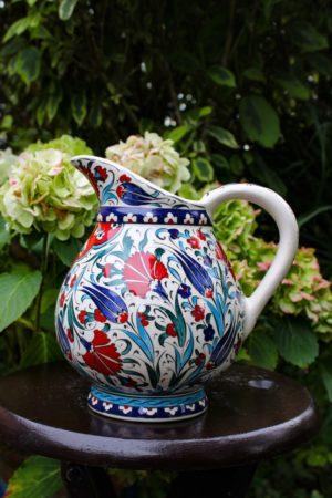 Unique ceramic jug with beautiful colors.