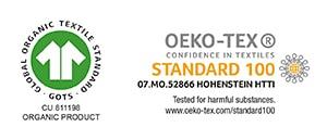 GOTS&OEKO-TEX labels