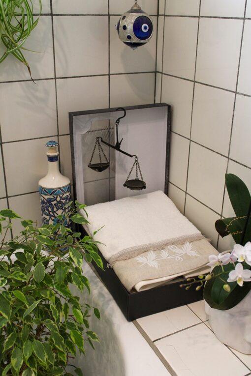 Luksuriøst håndklædesæt i økologisk bomuld i flot gaveæske