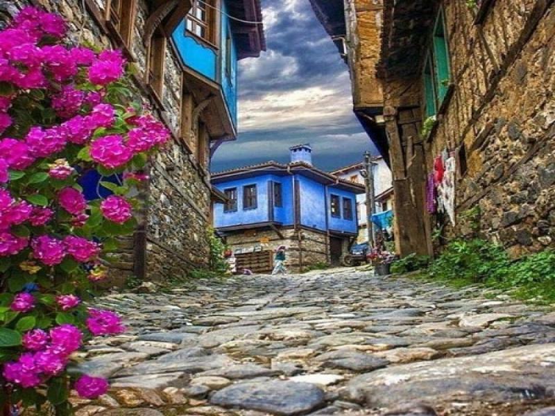 Old street in Bursa, Turkey